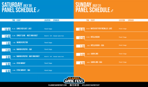 Classic Game Fest 2016 Panel Schedule